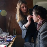 Putting the finishing touches - Makeup artist Kristina Pankova
